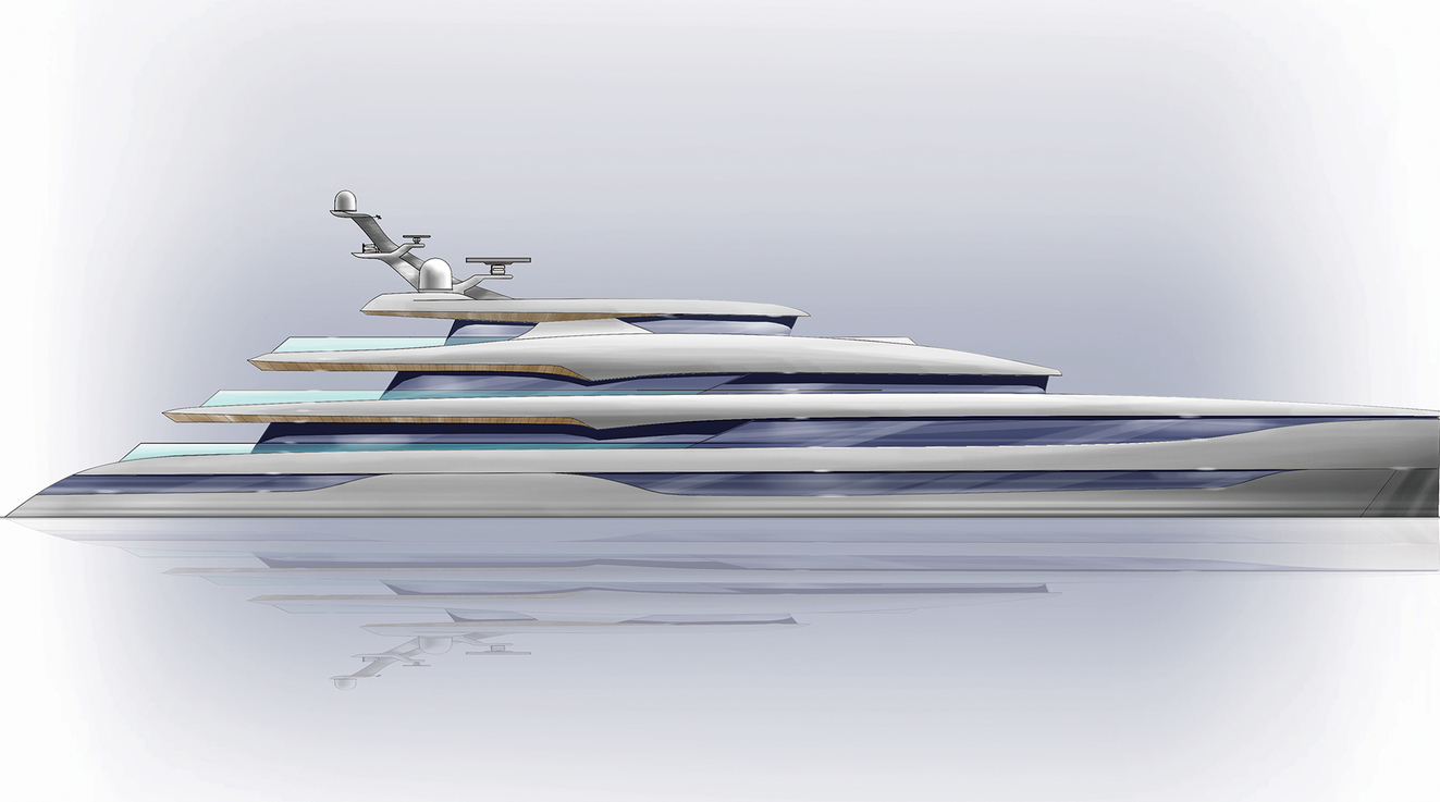 D iD images Project 85m MY super yacht design exterior