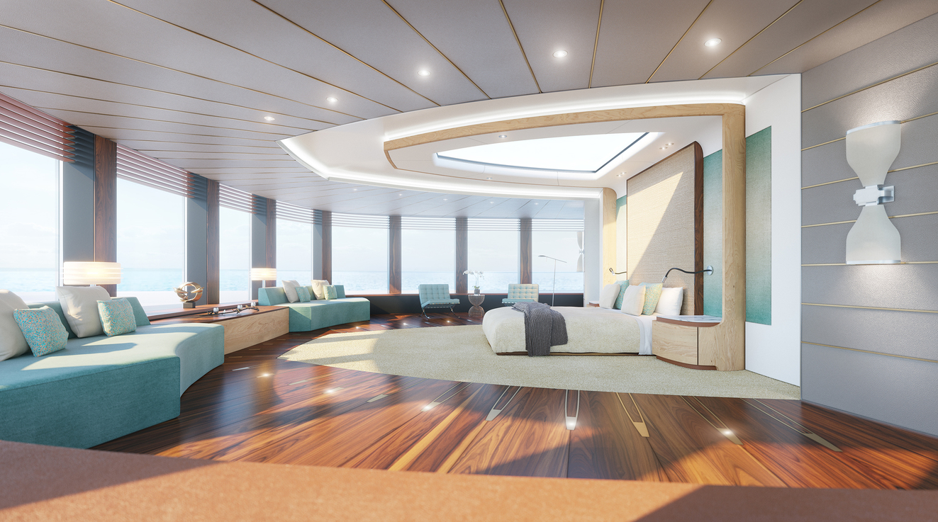 Projects 85m MY super yacht interior design