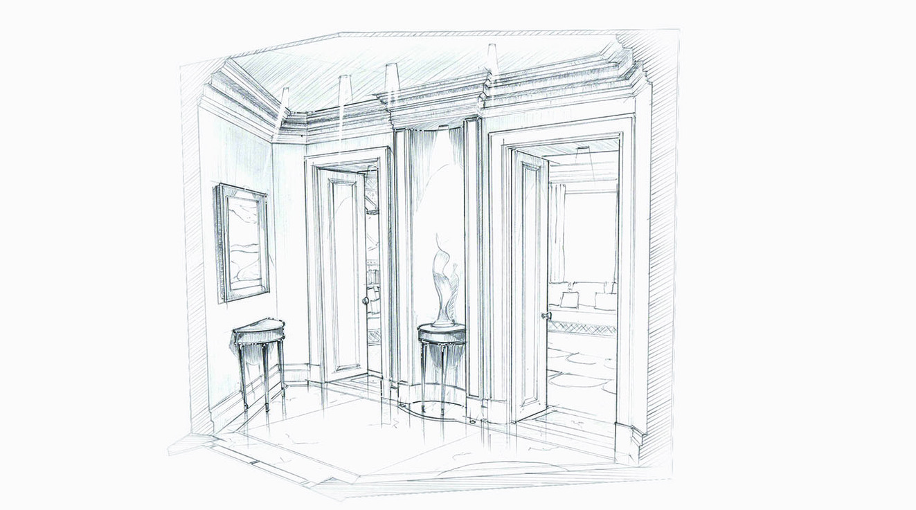 residential interior design sketches
